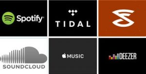 using Spotify or streaming services in my business logos